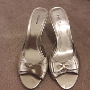 Gold Style & Co. Open Toe Sandals Size 8